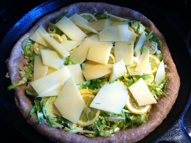 Lemon Brussels Sprout Pizza