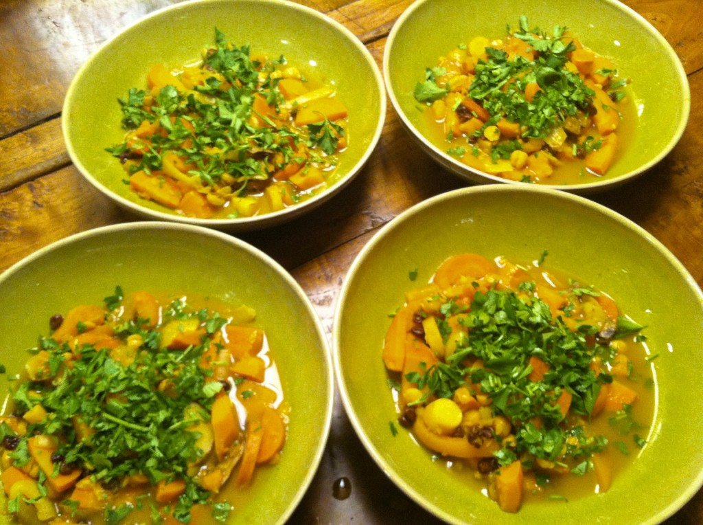 Sweet and Spicy Carrot and Squash Tagine