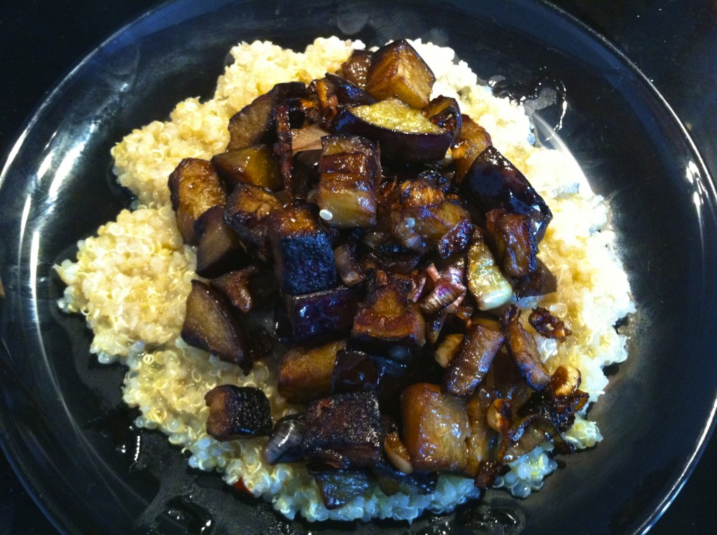 Sauteed Eggplant and Quinoa