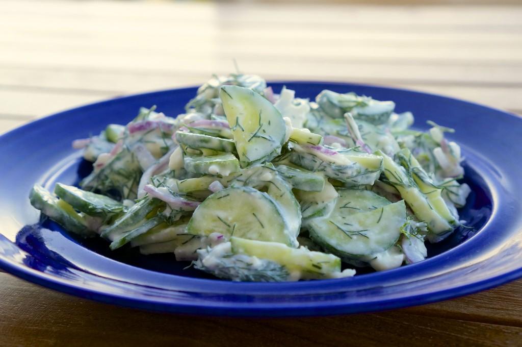 Feta Cucumber Salad