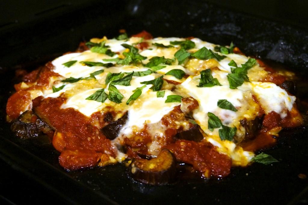 No-Fuss Roasted Eggplant Parmigiana