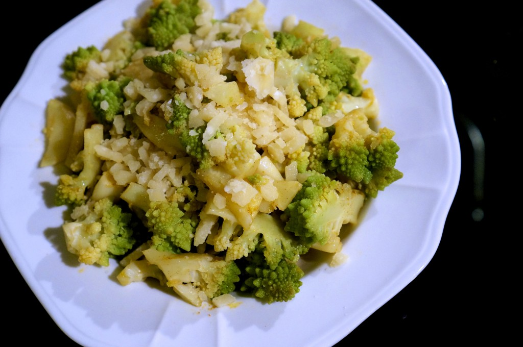 Spicy Romanesco with Parmesan