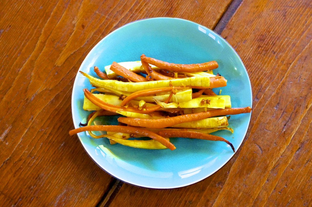 Turmeric and Ginger Glazed Carrots and Parsnips