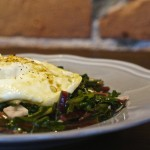 Garlicky Dandelion Greens + Farmers Egg