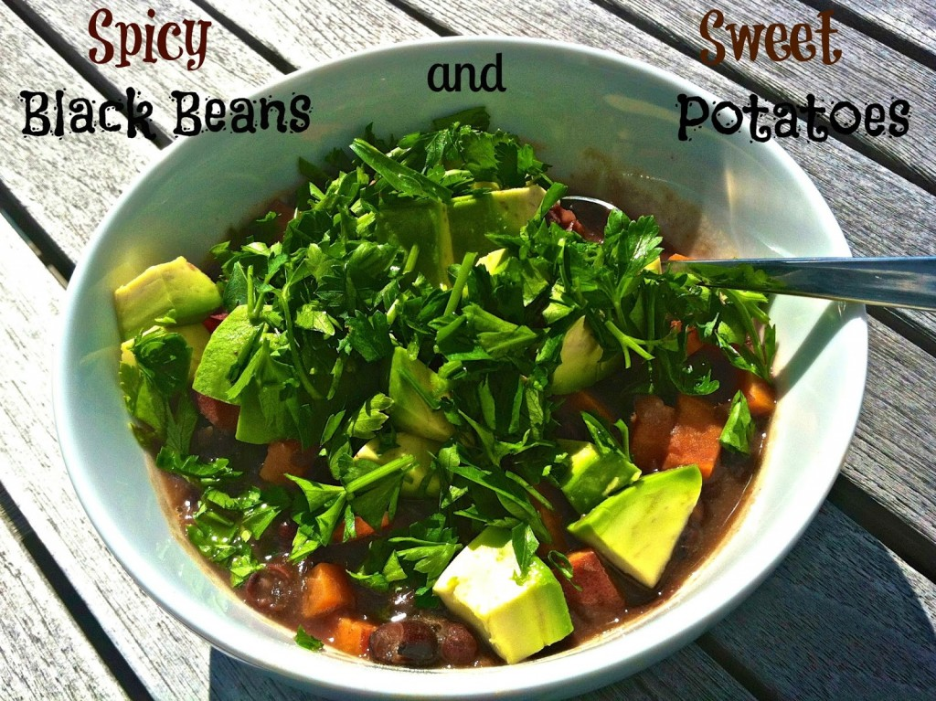 Spicy Black Beans + Sweet Potatoes