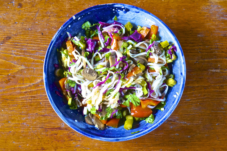 Rice Noodle + Veggie Bowl