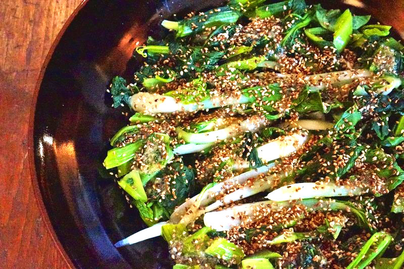 Asian Greens with Ginger Garlic Sauce