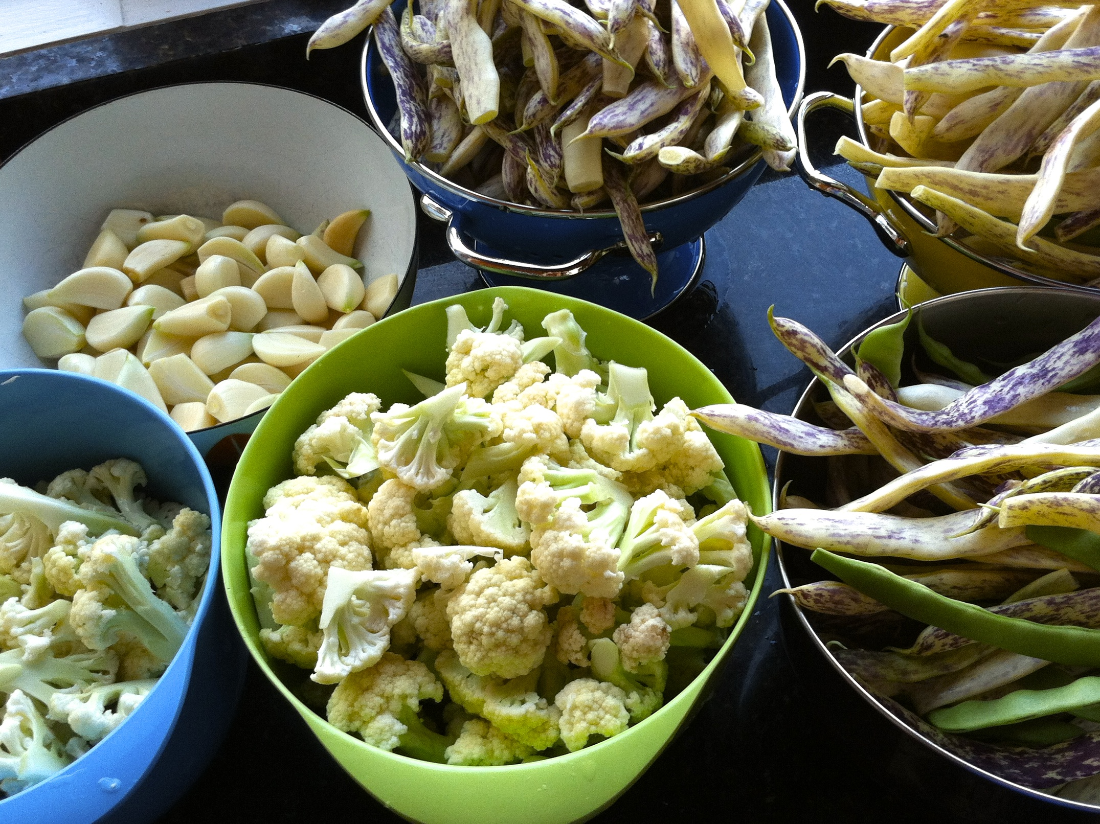 pickle ingredients, cauliflower pickles, dilly beans