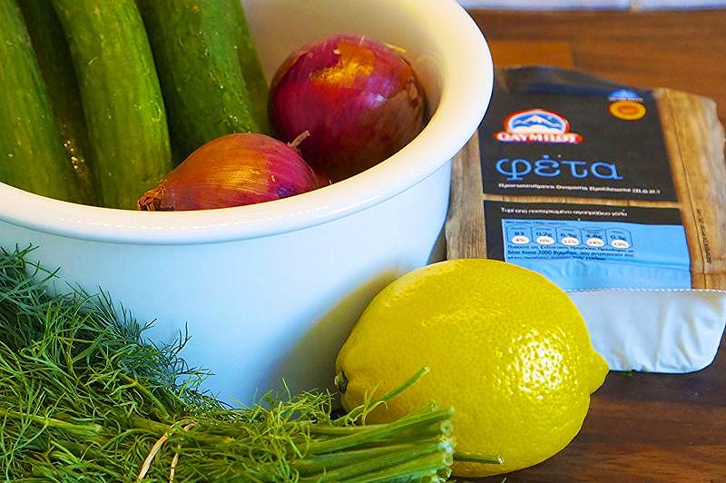 Feta Cucumber Salad Ingredients