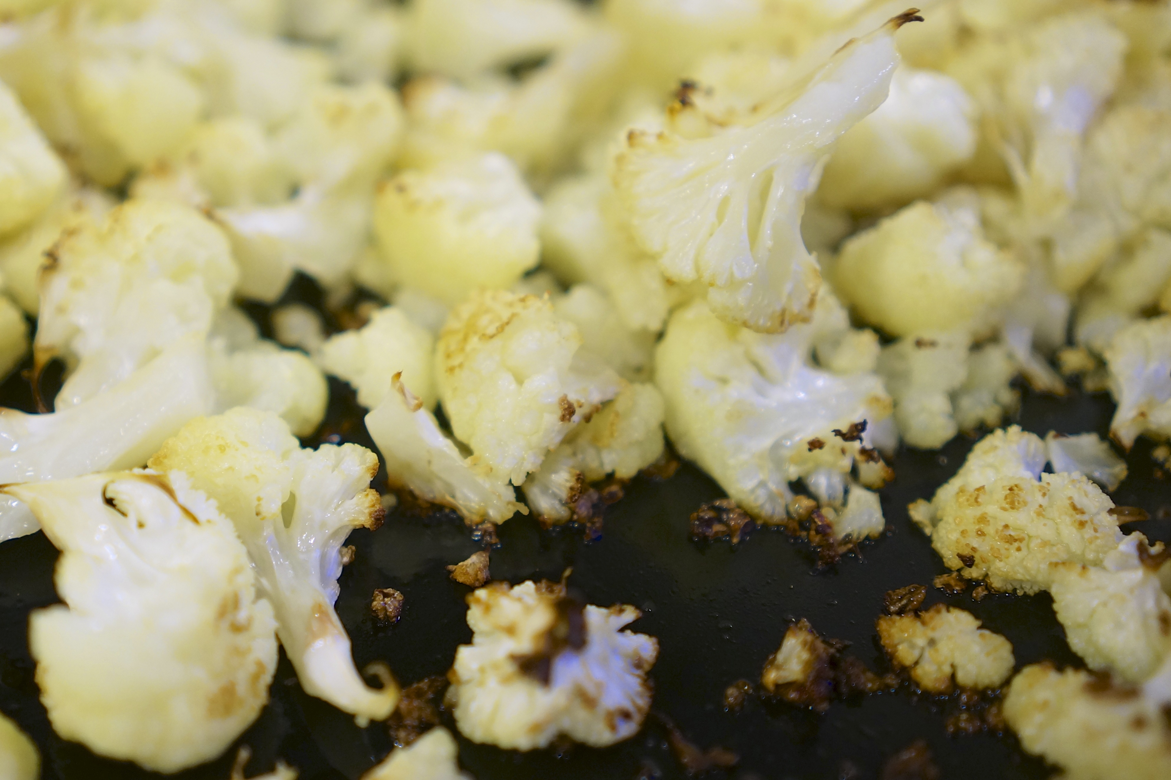 Roasted Cauliflower with Caper & Dill Yogurt Sauce