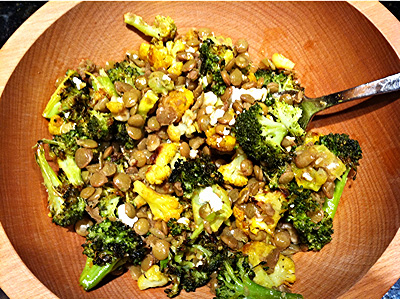Lentils with Spicy Brassicas