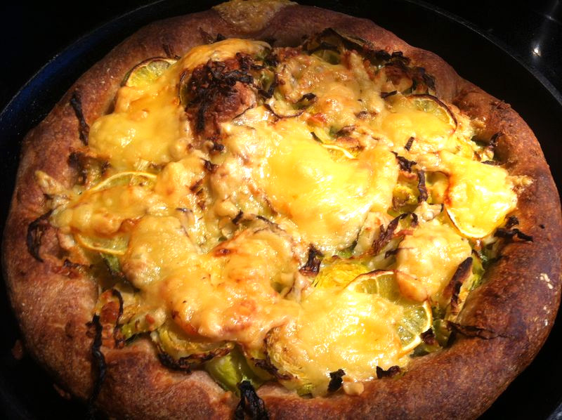 Meyer Lemon and Brussels Sprout Pizza
