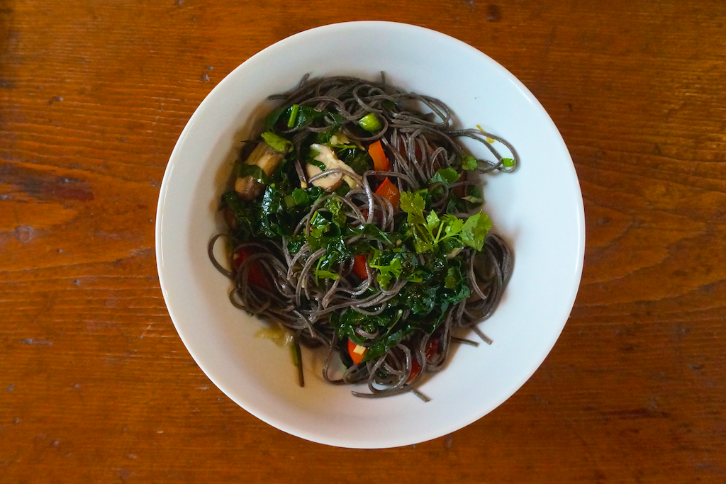 Black Bean and Veggie Noodles