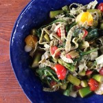 Spring Vegetable Primavera over Mung Bean Noodles