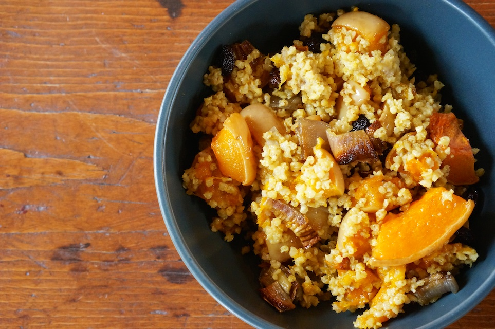Curried Millet with Butternut Squash