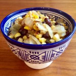 Grilled Corn and Spicy Black Beans