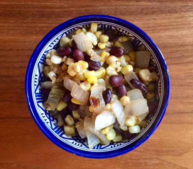 Grilled Corn with Spicy Black Beans